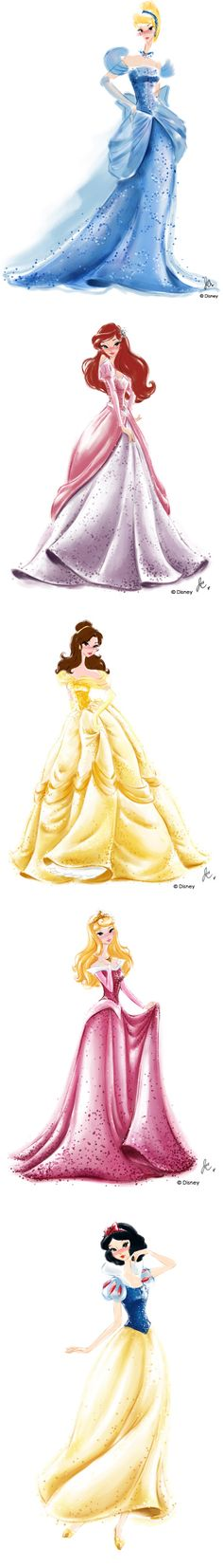 Disney Princess Watercolors by Jenny Chung