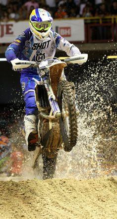 Revved up: Joakim Ljunggren  at Superenduro World Championship in Brazil. http://win.gs/1dOlZBx Image: Jonty Edmunds #motocross #superenduro #bike