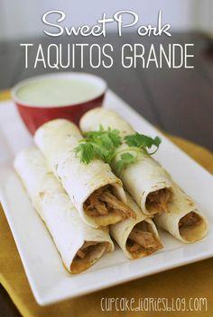 Sweet Pork Taquitos Grande. Looks so yummy!