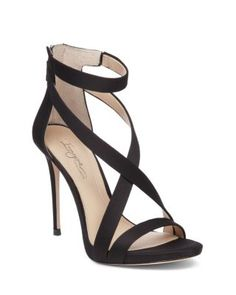 Imagine VINCE CAMUTO Devin Satin High Heel Ankle Strap Sandals | Bloomingdale's