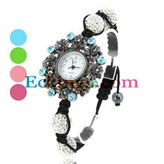 Women's Fabric Analog Quartz Bracelet Watch (Black) : Online Shopping for Watches, Toys & more