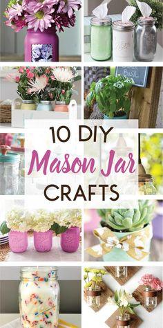 10 DIY Mason Jar Cra