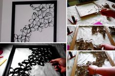 How to make artwork from cardboard loo roll tubes - Creatistic Frame, Artwork, How To Make, Crafts, Home Decor, Inspiration, Creative Ideas, Decorations, Photos