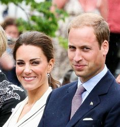Duke and Duchess of Cambridge. I love that smirk he gets on his face sometimes...very cheeky!