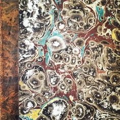 Marbled cover of an 1817 German book. www.bookdecor.com