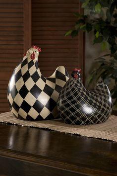 Herrick Black & White Chickens-oooo, I need these.