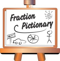 Fraction Pictionary: Recognizing Fractions with Drawing {Fraction Game}  http://www.mathfilefoldergames.com/fraction-pictionary/