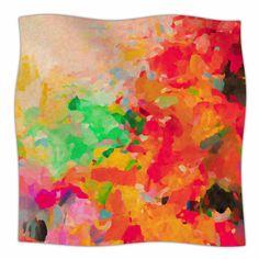 East Urban Home La Rochelle-Abstract by Oriana Cordero Fleece Blanket Size: 80'' L x 60'' W