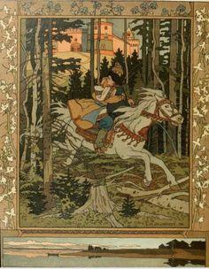 Russian folk costumes in the beautiful illustrations of Ivan Bilibin