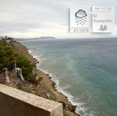 Hoy tenemos una vista diferente del mar mediterráneo. Más dramática que de costumbre pero la #lluvia también tiene su encanto :-)