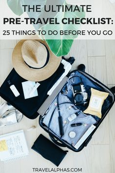 Feeling overwhelmed and need help planning your trip? From the big things like booking your flights and buying travel insurance, to all of the little things like calling your bank and checking the weather forecast, there is a lot to cover.This pre-travel checklist will help ensure that you're totally ready to go when your departure date arrives. In this pre-travel checklist, there are 25 things you must do before international travel!