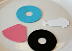 50s Theme Birthday Party Confetti, Sock Hop Party Decorations (100 Pieces)