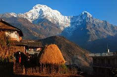 Himalaya village under Annapurna, Nepal.