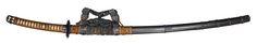 Dark Metallic Grey Saya & Earth Brown Handle Tachi Sword (google,com)