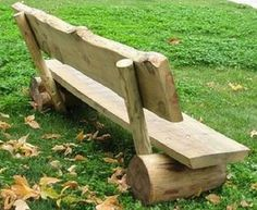 Wooden Bench Ideas Outdoor Stylish and Practical Outdoor Furniture Bench Ideas Wooden Bench Ideas Outdoor. Rustic Log Furniture, Diy Garden Furniture, Rustic Bench, Rustic Outdoor, Outdoor Decor, Furniture Ideas, Backyard Projects, Outdoor Projects, Wood Projects