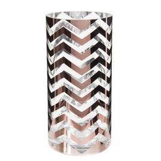 Vase en verre H 20 cm ZIG ZAG COPPER