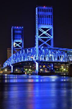 Main St bridge in Jacksonville Florida. Old Florida, State Of Florida, Highway Road, Famous Bridges, Jacksonville Florida, Best Cities, Main Street, East Coast, Roads