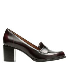 Tarah Grace Burgundy Shiny Leather - Women's Heels - Clarks® Shoes Official Site