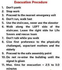 12 Best Emergency Procedures Images Drill Fire Drill