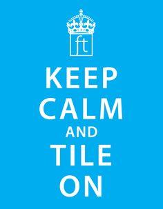 Tile on, YEAH! #coverings #atlanta