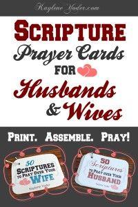 Scripture Prayer Cards for Husbands & Wives