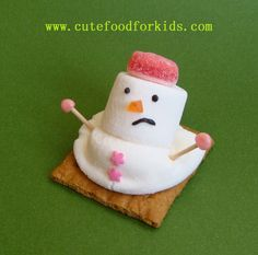 Melted snowman marshmallow