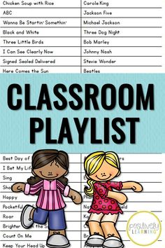 Looking for new music ideas? This is a list of songs my students love and so do I. Here's our list of first grade favorites! From Positively Learning Blog #classroommusic #songsfortheclassroom