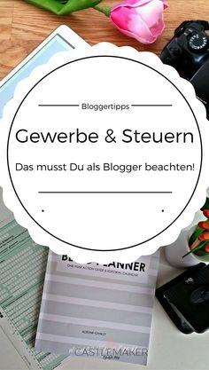 Muss man als Blogger ein Gewerbe anmelden? Wie behandelt man Einnahmen und Ausgaben? Wie gibt man Produkte an? Mehr Info dazu auf meinem Blog Steuererklärung für Blogger