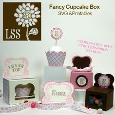 Fancy Cupcake Box SVG Price:   $3.00
