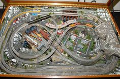 Intricate #NScale #model #train #table #layout