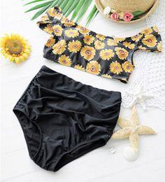 Sunflower High Waisted Bikini Set