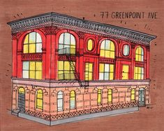 james gulliver hancock // 77 greenpoint ave. an attempt to draw all the buildings in new york.