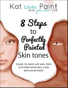 You can learn to paint any skin tone in 8 steps with just a few bottles of paint.    Do you want to paint a little diversity in your portraits and mixed media art?  I show you the paints to buy and the colors to mix to create light and dark skin tones, then I show you exactly how to do it.