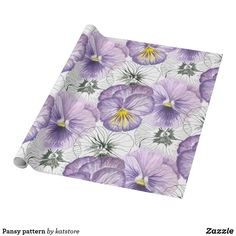 Pansy pattern wrapping paper by katstore