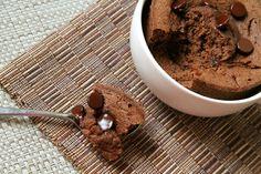 . double chocolate mug cake .