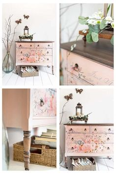 Examine this important illustration and browse through the here and now facts and strategies on bedroom furniture ideas Floral Furniture, Patterned Furniture, Grey Bedroom Furniture, Bedroom Furniture Makeover, Diy Furniture Projects, Hand Painted Furniture, Farmhouse Furniture, Bathroom Furniture, Furniture Refinishing