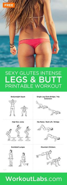 Sexy Glutes Intense Legs and Butt Toning Workout for Women – Get ready for the beach season with this great leg and butt toning workout. Just 30 minutes twice each week is all the time you need.