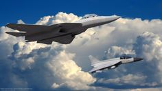 Sukhoi PAK FA and FGFA (Fifth Generation Fighter Aircraft)     In volo con LCA Tejas