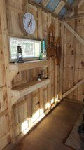 Sugar Shack: 12 Steps (with Pictures) Old Quebec, Adjustable Legs, Wood Crates, All Wall, No Time For Me, Beams, Woodworking Projects, Construction, Flooring