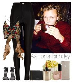 """""""»Ashton's Birthday"""" by storyofmylife1danita-scream on Polyvore featuring River Island, Topshop, Stuart Weitzman, Marc Jacobs, Case-Mate, Bare Escentuals, tarte and Lunares"""