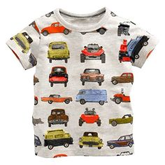 PanDaDa Baby Boy Cartoon Print Short Sleeve Tshirt Cotton Dress Summer ** Click image to review more details. (This is an affiliate link)