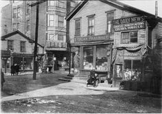 Italian pharmacy, c.1901, Chicago. This location would have most likely been around the Maxwell, Taylor St. area.