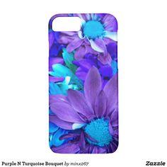 Purple N Turquoise Bouquet iPhone 7 Case
