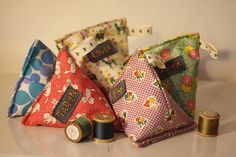 Fabric Pouches, perfect for Lindsey's finger puppets.