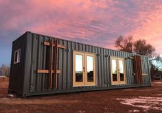 """Modern """"Intellectual"""" Shipping Container Home by Rootspace Tiny House Movement // Tiny Living // Container Home // Container House // Shipping Container // Tiny Home // Architecture // Home Decor Container Architecture, Architecture Design, Container Buildings, Garden Architecture, Sustainable Architecture, Contemporary Architecture, Tiny House Swoon, Tiny House Living, Tiny House Design"""
