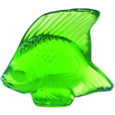 Lalique FISH FIGURINE GREEN MEADOWN ($99) ❤ liked on Polyvore featuring home, home decor, green, handmade home decor, green home accessories, green home decor, lalique and lead crystal figurines