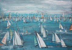 Monika Krömer, Blaues Meer, 80 x 100 cm, Acryl auf Leinwand, www.kroemer-webgalerie.de