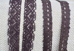 2 yds dark brown crochet trim I Crochet trim I Crochet lace trim I Lace trim I Crochet I Sewing supplies I Brown lace trim I Brown crochet by SixthCraft on Etsy