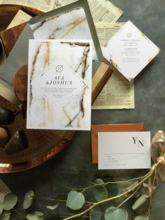 Marbled invitation s