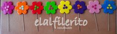 Alfiler P. Flores de colores.